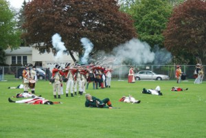 The Red Coats die in battle
