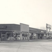 Shopper's Center on Prospect Avenue, circa 1950